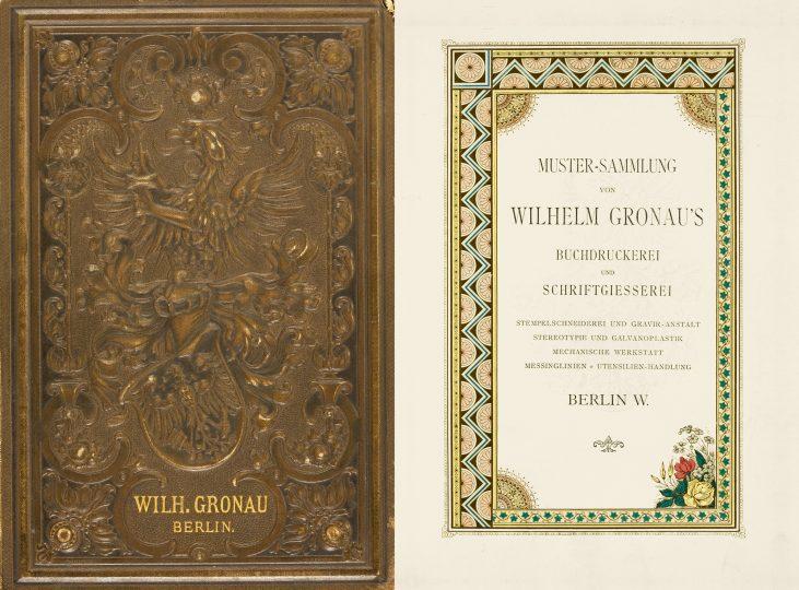 Wilhelm Gronau's 1891 type specimen catalog