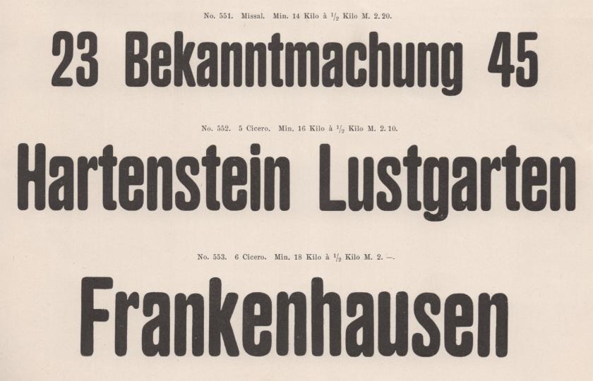 An original Ferd. Theinhardt sans serif