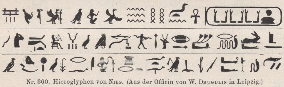 Nies's Hierogylphs