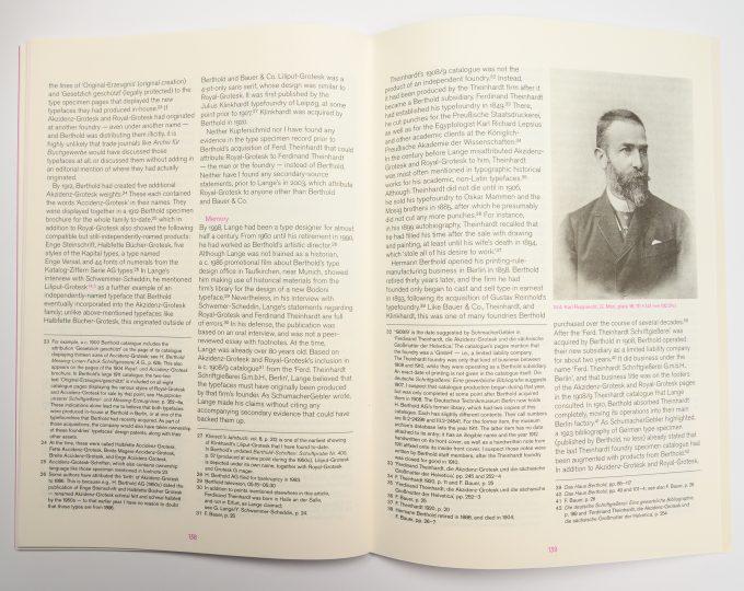 The origins of Akzidenz-Grotesk: portrait of Karl Rupprecht in Footnotes C
