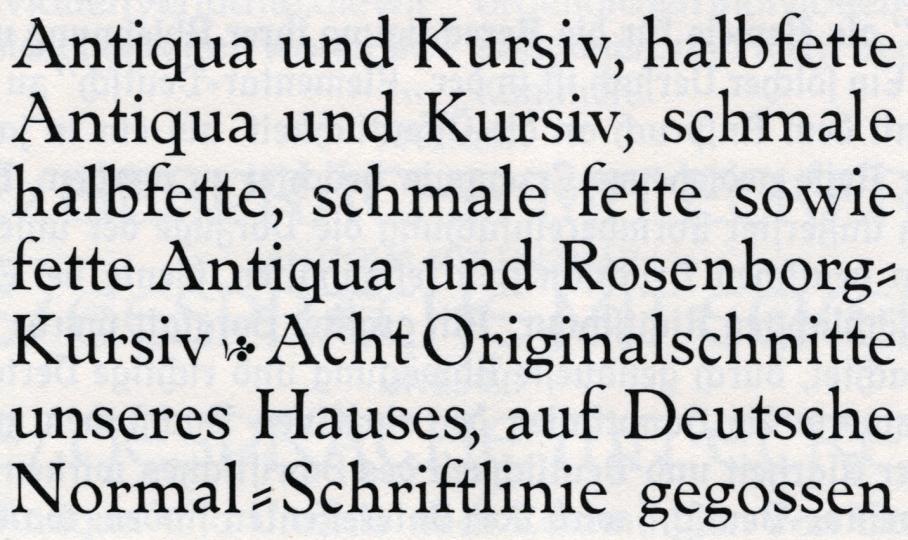 Nordische Antiqua / Genzsch Antiqua