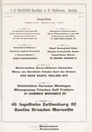 Zeitungs-Grotesk specimen sheet (1875)