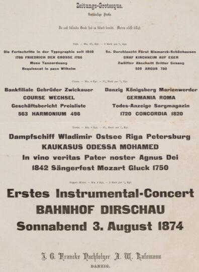 Zeitunis-Grotesque. Vorläufige Probe (1874) J. G. Francke Nachfolger A. W. Kafemann