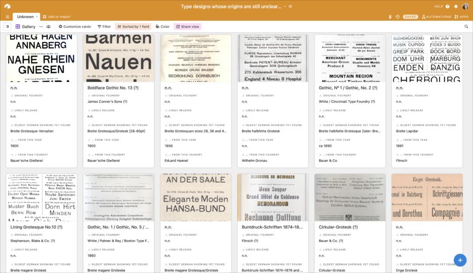 Sans serif typefaces sold in German-speaking Europe whose origins I have not identified