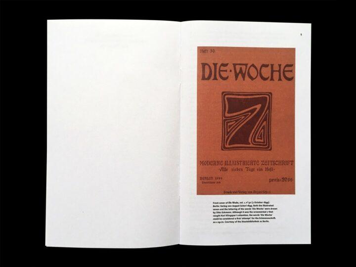 Otto Eckmann's design for cover elements of the magazine Die Woche.