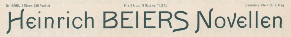 Washington, a sans serif typeface with swash letters from Schelter & Giesecke