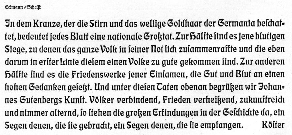 Eckmann-Schrift