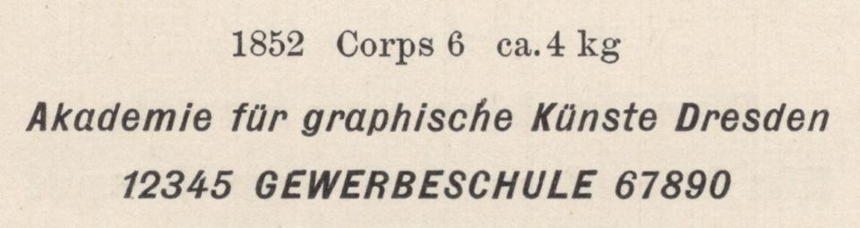 6pt Halbfette Kursiv-Grotesk from Flinsch