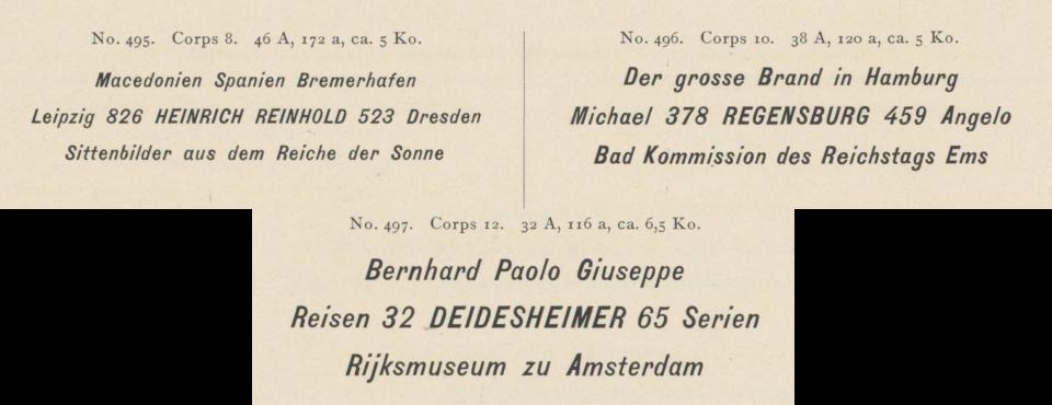 Benjamin Krebs Nachfolger 1899 catalog. 8, 10 and 12pt sizes of the design it sold as Kursiv-Steinschrift