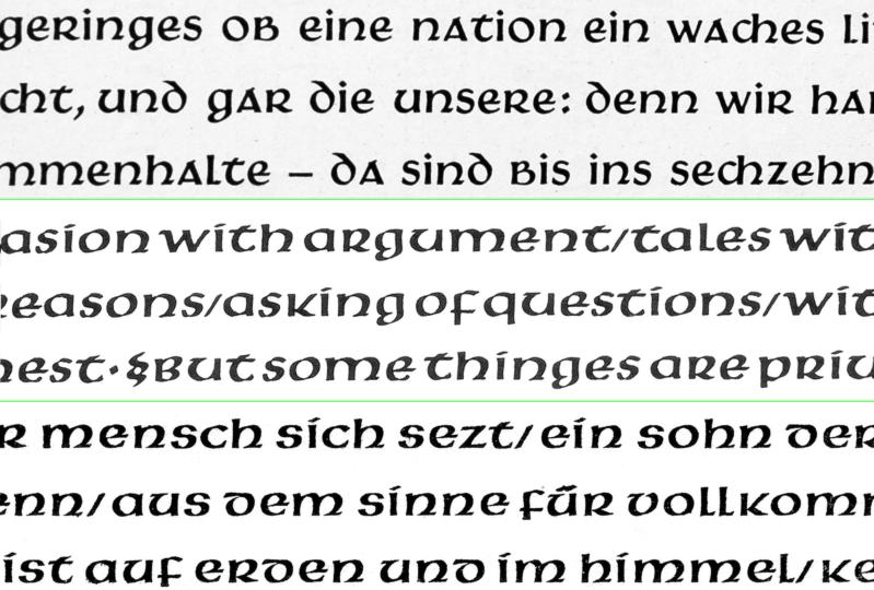 Hammerschrift, Samson and Pindar typefaces