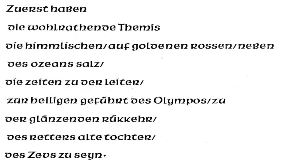 Pindar typeface