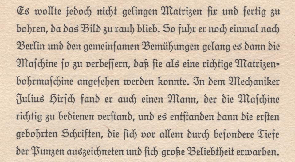 Page from: 1875–1925: Meinem Vater Jean Noé Carl Jakob Ludwig, dem Gründer der Firma Ludwig & Mayer Schriftgießerei zu Frankfurt a.M., zum 23. Dezember 1925 in Dankbarkeit gewidmet.