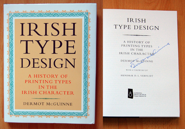 Dermot McGuinne, Irish Type Design, 2nd Edition