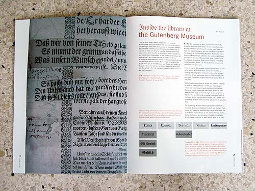 Spread One From My Article in the Linotype Matrix 4.2