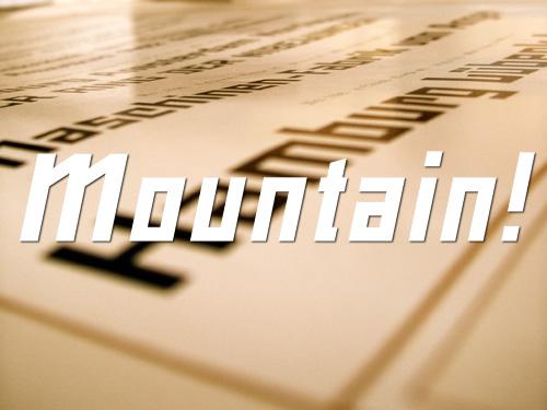 Mountain typeface sample