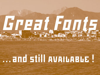 The Mountain fonts are great, and still available!