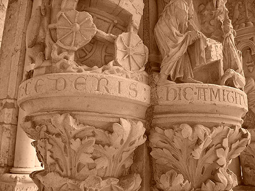 Sample of Lombardic Lettering from Chartres Cathedral, France