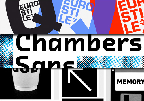 Eurostile Next, FF Chambers Sans, and FF Utility