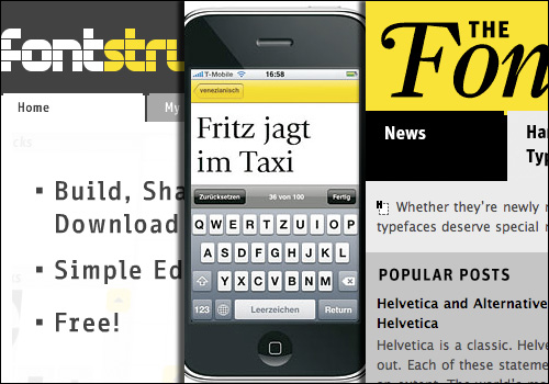 2008 saw not only the release of FontStruct, but also FontShuffle, and the FontFeed.