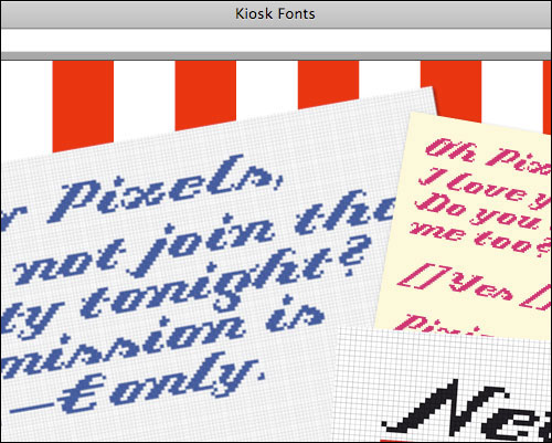 More from the Kiosk Fonts website
