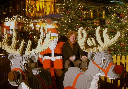 Dan with Santa in Berlin