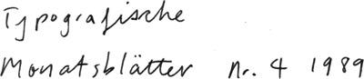 Typografische Monatsblätter Nr. 4 1989