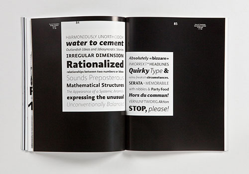 Type specimens for Mark Caneso's Ratio, and Emanuela Conidi's FS Blake
