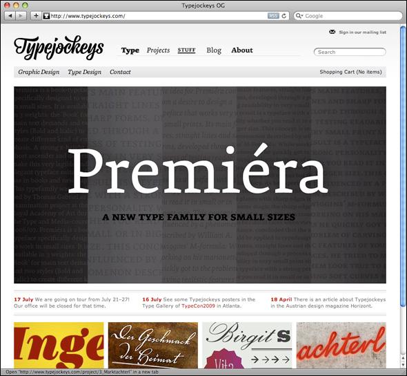 New Typejockeys website.