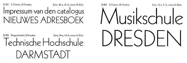 Scan from a 1930s Klinsgpor specimen booklet for the Kabel typeface