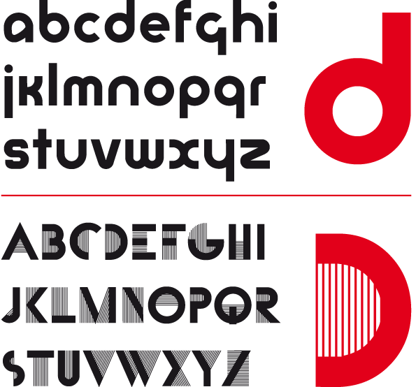 Universal-Alfabet vs. Bifur