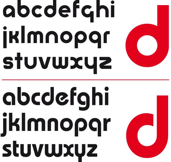 Universal-Alfabet vs. ITC Bauhaus