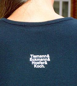 Erstes TypeOff T-Shirt, Hinterseite