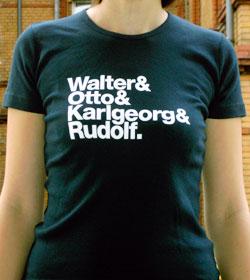 Erstes TypeOff T-Shirt, Vorderseite