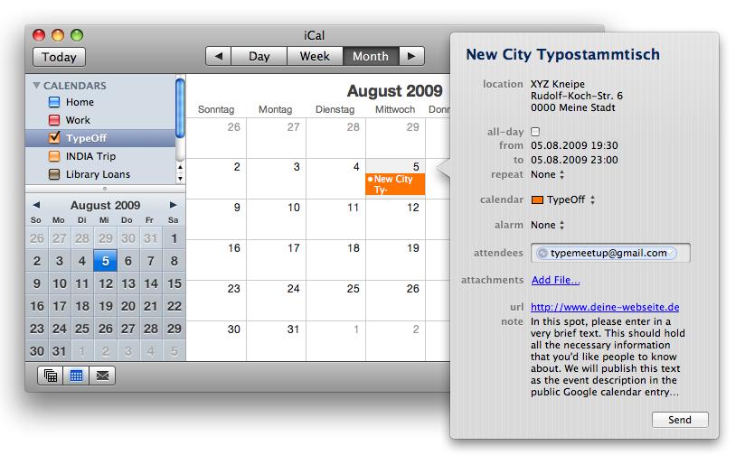 Calendar Events Add Event to Calendar