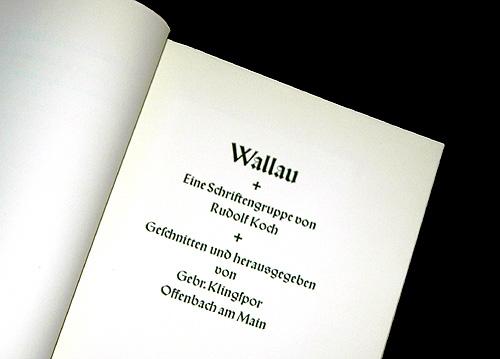 Wallau Brochure Title Page
